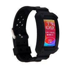 Engranaje grande Fit2 Reemplazo TPU Elastómero de Silicona Muñequeras banda para Samsung Galaxy Gear Ajuste 2/SM-R360 Reloj Inteligente Tracker