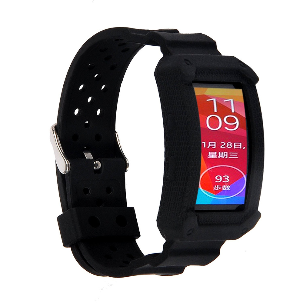 Large for Gear Fit2 Silicone Replace TPU Elastomer Wrist ...