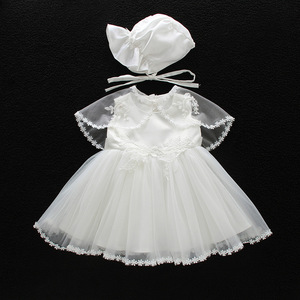 Image 3 - IYEAL Baby Christening Gowns Infant Baby Girl Dress Baptism for Little Girl Clothes Summer Dresses for Baby Girl Wedding 3PCS