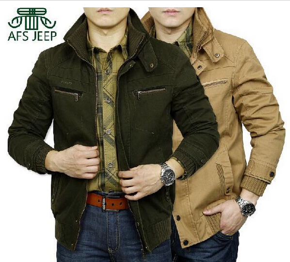 Original Brand AFS JEEP Men's jacket spring and autumn men fashion high quality cotton casual coat winter jackets