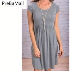 Эластичный для беременных Платья летняя одежда для беременных Для женщин уход живота Костюмы короткий рукав тонкий Беременность платье B0575