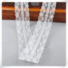 10yards african lace fabric White lace Ribbon3.8CM DIY french lace fabric embroidery net holiday decorations clothing lace Trims