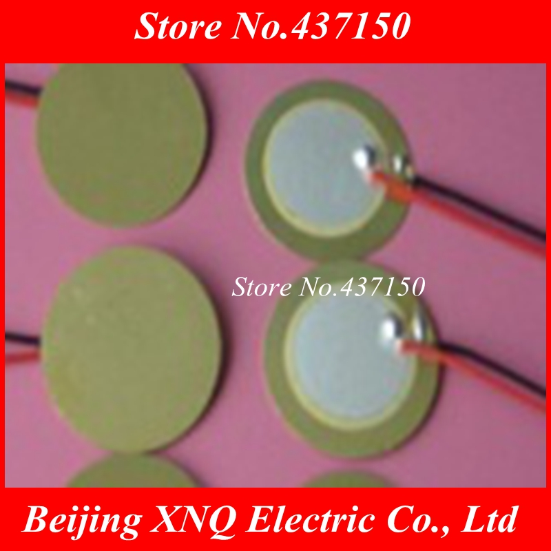 Electronic Components & Supplies 20pcs X 27mm Piezo Ceramic Element With Cable 15mm Free Shipping D27 Acoustic Components