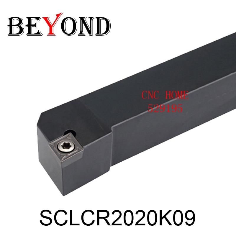 OYYU Soporte de herramienta de torneado de torno de 20 mm SCLCR Barra de mandrinado CNC externa SCLCR2020K09 Inserto de carburo de tungsteno CCMT09T304 Cortador SCLCL
