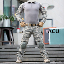 2017 new tactical combat uniform pants & shirts airsoft Multicam military camouflage hunting essential equipment