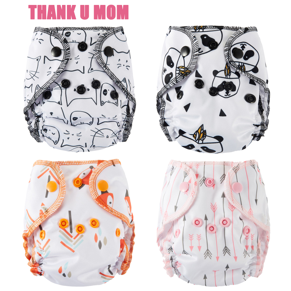 5Pcs Newborn Baby Cloth Diaper NB Pocket Diapers Stay Dry Suede Cloth Inner PUL Outer Fit 6-11 Pounds Baby