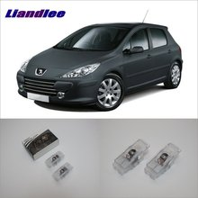 Liandlee Car Courtesy Doors Lights For Peugeot 307 2001~2005 806 1994~2001 Projector Welcome Light Ghost Shadow Lamp