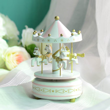 Zakka creative carousel music box Home Office ornaments arts and crafts home decoration