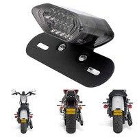 Universal Motorcycle Accessories Black Harley Scooter Motos Motorbike Led Brake Lights ATV Taillight DC12V