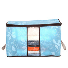 Newest Quality First 60*40*35cm Foldable Flower Printed Quilt Sorting Anti-bacterial Clothing Organizer Bags Storage Bag Box