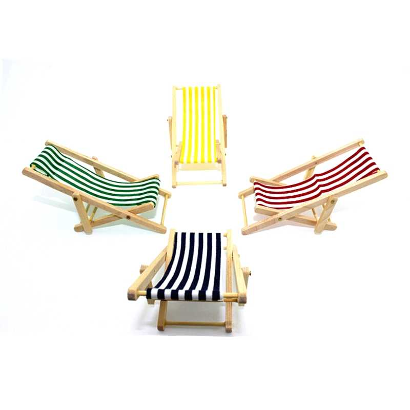 Astonishing Mini Foldable Wooden Deck Beach Chair 1 12 Beach Lounge Chair Couch Recliner For Dolls House Lounge Dollhouse Miniature Chairs Creativecarmelina Interior Chair Design Creativecarmelinacom