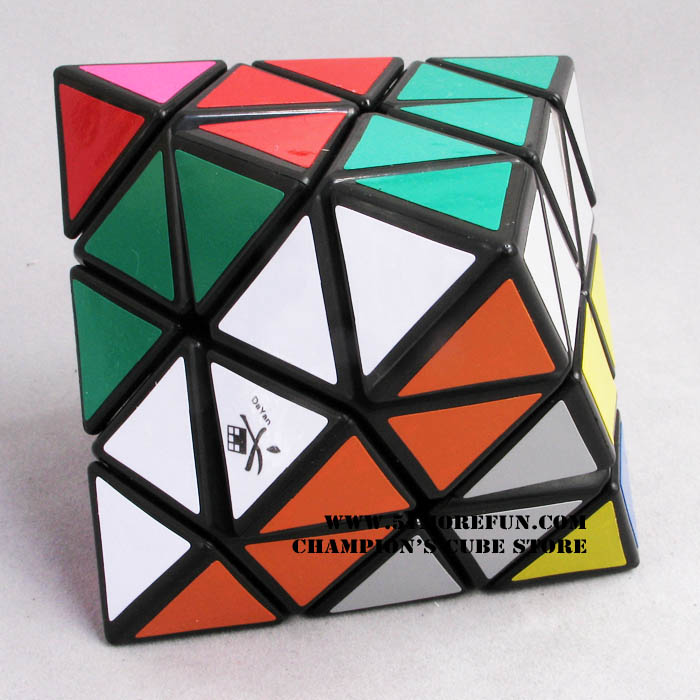 DaYan Octahedron Magic Cube White And Black And Transparent  Learning&Educational Cubo Magico Toys