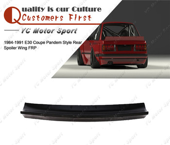 Car Accessories FRP Fiber Glass PD Style Rear Spoiler Fit For 1984-1991 E30 Coupe Trunk Spoiler Wing Car Stying image