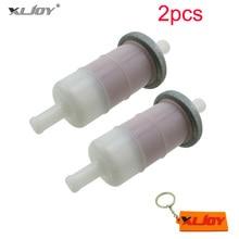"Xljoy 2 шт. 3/"" 10 мм топливный фильтр для Honda CBR600 CBR900RR ястреб 650 CBR 1000F 400 600 900 800 1200 1500 OEM 16900-MG8-003"