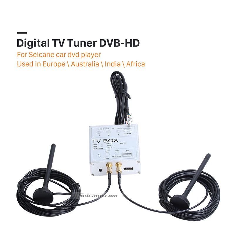Seicane New External Mini HD Digital TV Tuner DVB-T For Car DVD Player TV Box Receiver Stick for Car or Home Free Shipping special dvb t mpeg4 tv box tuners for ownice car dvd player the item just for our dvd