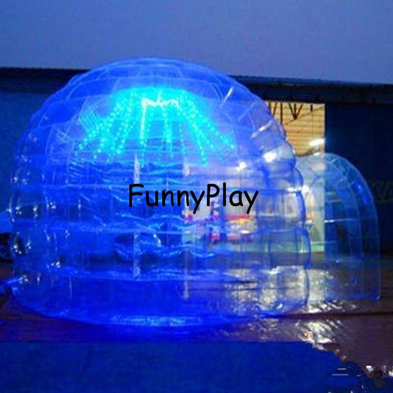 Tente de repos gonflable, tentes gonflables uniques de dôme de plage de double couche, gonfle des tentes pour la publicité, grande tente gonflable de dôme