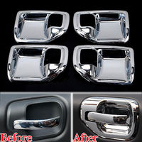 4x Auto Decorative Door Handle Catch Bowl Cup Cover Trim Sticker Car Styling Interior Mouldings Fit For 2011 2015 Jeep Patriot