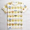 2017 Adolescente Camiseta 3D Emoji camiseta Smiley Emoção Linda engraçado Dos Desenhos Animados T-Shirt de Manga Curta Tops T para Meninos Meninas 12-20Y