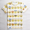 2017 Teenager T SHIRT 3D Emoji t shirts Smiley Emotion Lovely Funny Cartoon T-Shirt Short Sleeve Tops  Tee for Boys Girls 12-20Y