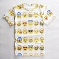 2017 Teenager T SHIRT 3D Emoji t shirts Smiley Emotion Lovely Funny Cartoon T-Shirt Short Sleeve Tops  Tee for Boys Girls 12-20Y