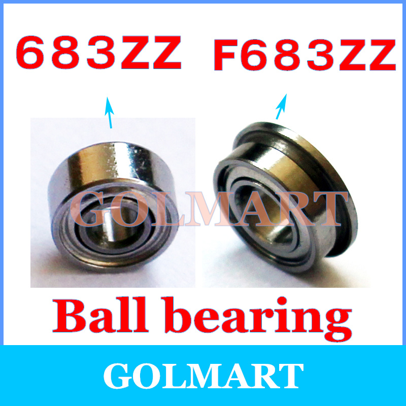 Deep groove ball bearing with flange 3x7x3mm type F683ZZ