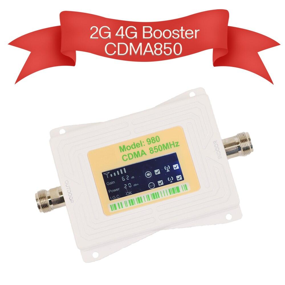 Nouveau répéteur cdma 850 mhz 4g lte amplificateur 2g amplificateur de signal de téléphone portable 4g répéteur cellulaire I.G.C ALC bande 5 écran LCD