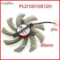 Free Shipping POWER LOGIC PLD10010S12H 12V 0 30A 95mm 2Pin For Gigabyte GeForce GTX 660 600