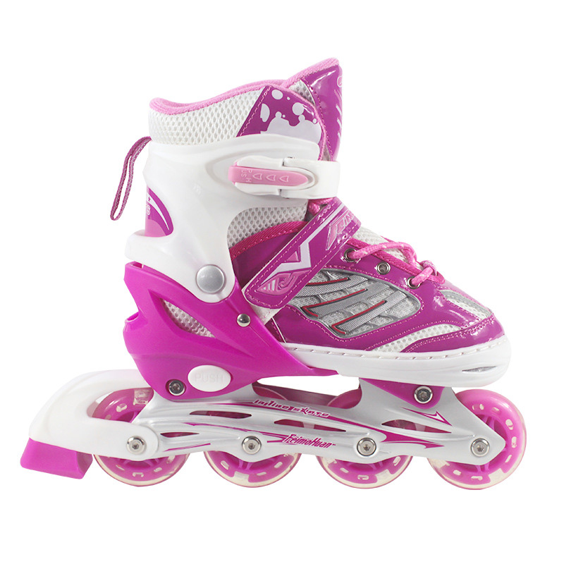 NEW Inline Professional Women Adult Kids Slalom Sliding Ice Skates PP Skating Shoes Adjustable All Wheels Flashing Patines NEW Inline Professional Women Adult Kids Slalom Sliding Ice Skates PP Skating Shoes Adjustable All Wheels Flashing Patines
