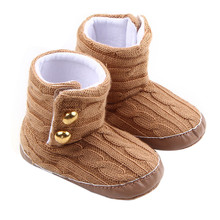 Baby Toddler Infant Girl Winter Snow Boots Cute Soft Sole Prewalker Crib Shoes Warm Boots Drop Shipping