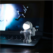 ABS+PC LED Night Light Adjustable Spaceman Astronaut USB Tube Mini Pure White For Computer Laptop PC Notebook Reading Lamp