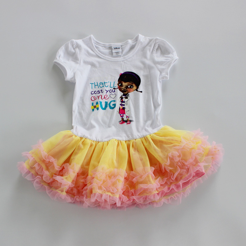 ,5 pieces/lot new children doc mcstuffins dress girls summer smart dress,doc mcstuffins clothing for summer