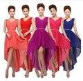 Hot Sale Chiffon Many Color Short Front Long Back Simple Elegant Cheap Girls Purple/Coral/Mint Green Bridesmaid Dresses BW02