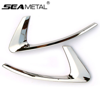 1 Pair Car Styling Rear Fog Lights Frame Cover Auto External Decoration Trim ABS Chrome For