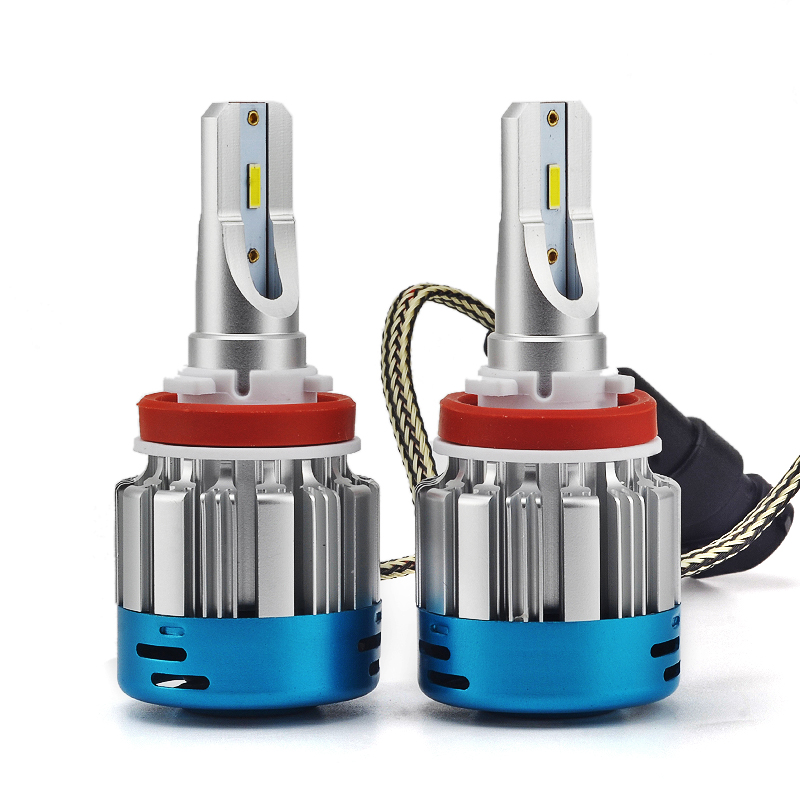 New 2Pcs Car Lights Bulbs LED H1 H3 H4 H7 H11 H13 9005 9006 Car Headlights Strong Light Auto Front Bulb Headlamp 9V to16V