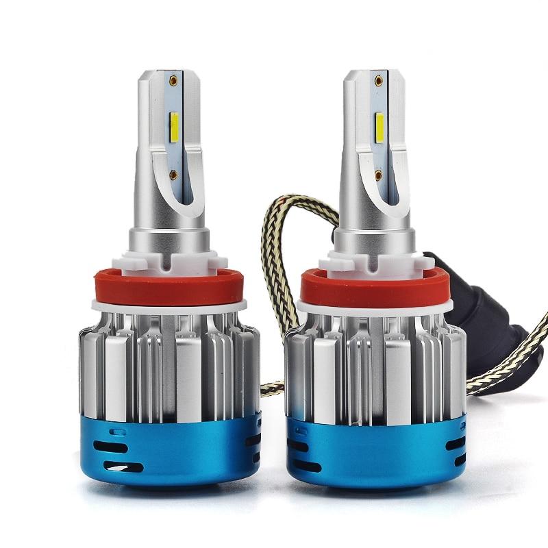New 2Pcs Car Lights Bulbs LED H1 H3 H4 H7 H11 H13 9005 9006 Car Headlights Strong Light Auto Front Bulb Headlamp 9V to16V