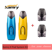 2019 Newest kamry X Pod system kit 650mAh built in battery Mtl pod vape kit with 2ml cartridge vs justfog minifit suorin air