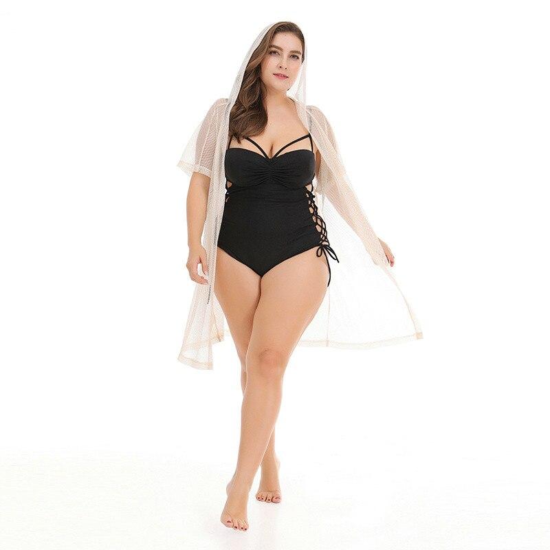 Nouvelle couverture de plage à manches courtes Bikini maillot de bain couvrir plage Cardigan maillots de bain maillot de bain Bikini couvrir grande taille XXXL