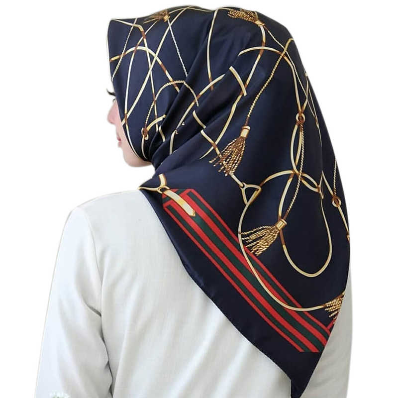 Regalo Per I Musulmani Femminile Sciarpa del Hijab Morbido Leggero Piazza Wrap Turbante Foulard delle Donne di Stampa Satin Abaya Turco Interno Hijab