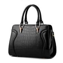 Cuero genuino bolso de las señoras 2017 del patrón del cocodrilo Mujeres messenger bags bolsos mujeres famoso diseñador de la marca de alta calidad