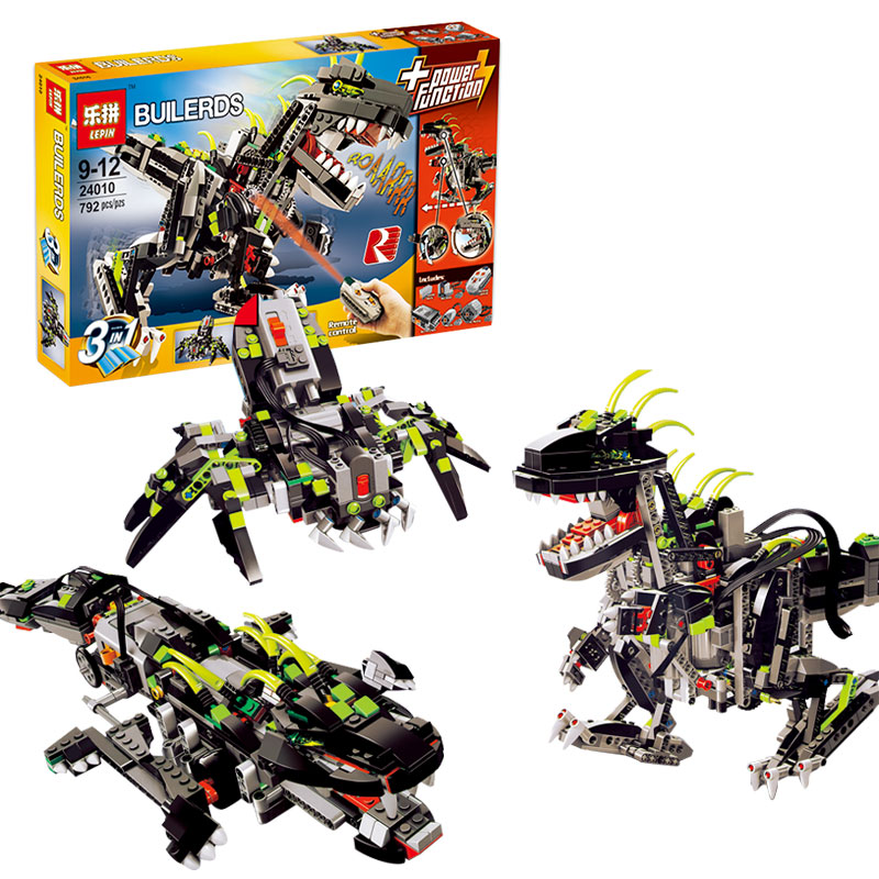 2017 New LEPIN 24010 792Pcs Mighty Electric Dinosaurs Model Building Kits Blocks Bricks Compatible Children Toys Gift lepin 24010 monster dino building bricks blocks toys for children boys game model car gift compatible with decool bela 4958