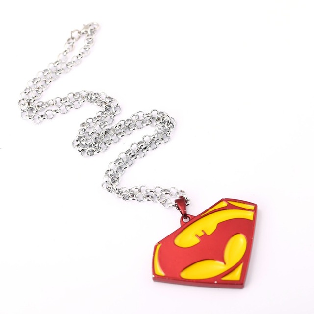 Ms jewelry batman v superman choker necklace superman pendant men ms jewelry batman v superman choker necklace superman pendant men women gift movie accessories mozeypictures Gallery