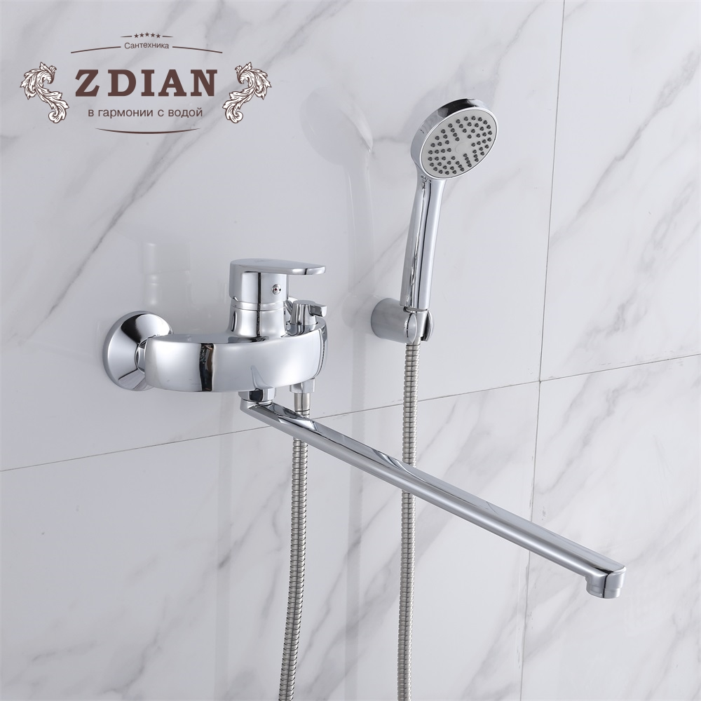 Bath & Shower Faucets Wall Mounted Bathroom Bath Handheld Shower Tap ...