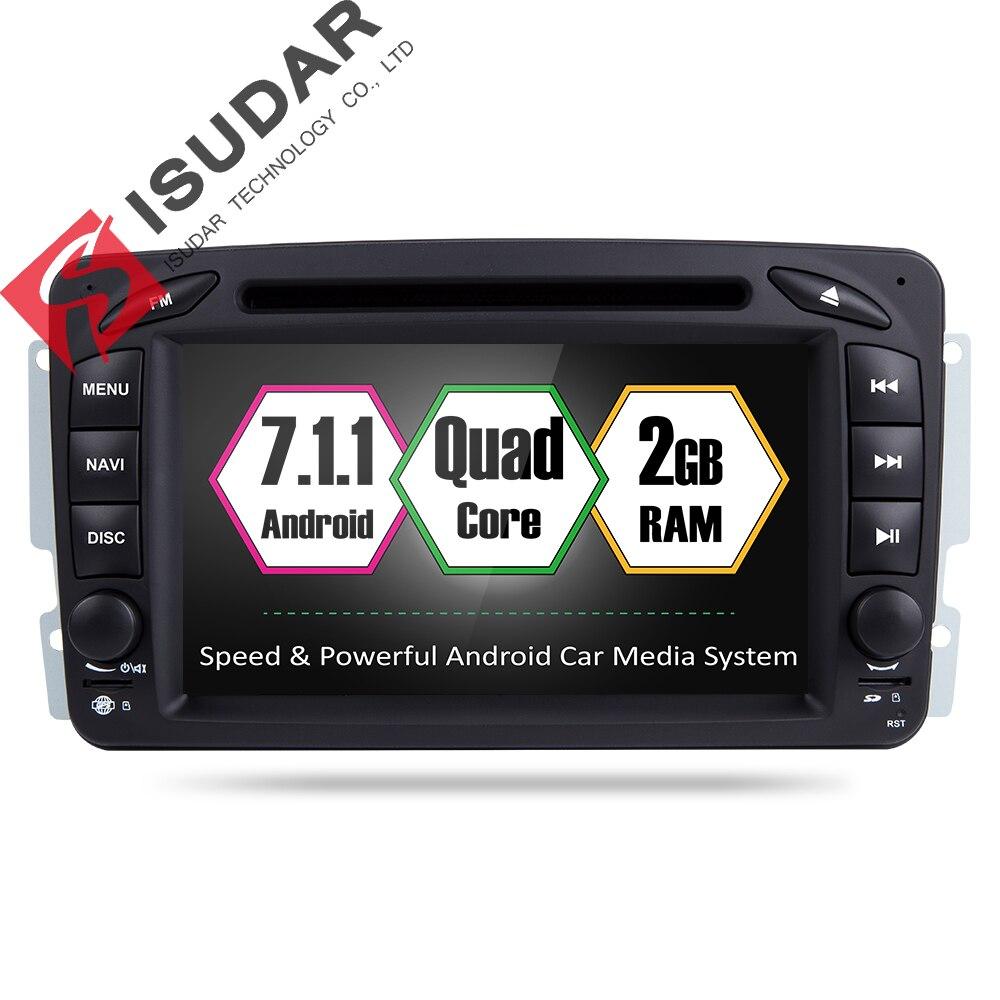 Isudar reproductor Multimedia Android 7.1.1 2 Din GPS Autoradio para Mercedes/Benz CLK/W209/W203 /W208/W463/Vaneo/Viano/Vito FM AM