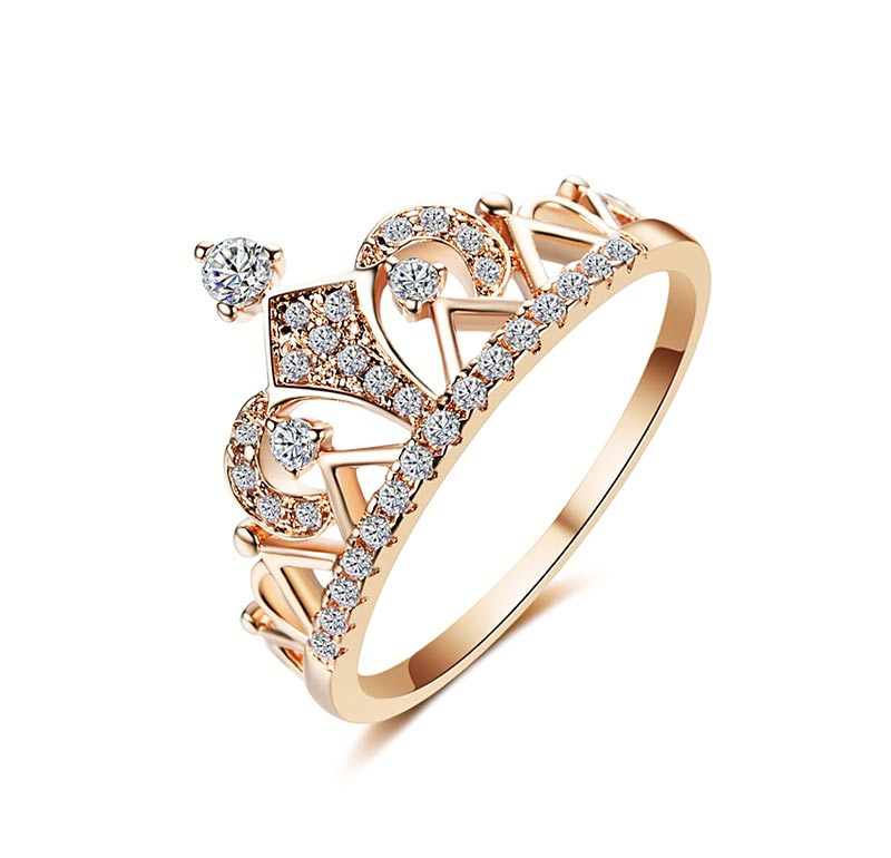 AAA Cubic Zirconia Princess Crown Ring