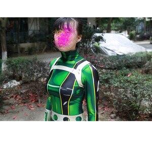 Image 4 - Ainiel My Hero Academia Froppy Tsuyu Asui 코스프레 의상 스판덱스 Zentai Suit 여성 소녀 바디 슈트 Halloween Kids and Adults