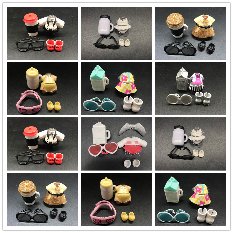 A set of original lols Doll clothes glasses bottle shoes Accessorries hot sale Fashion diy toy