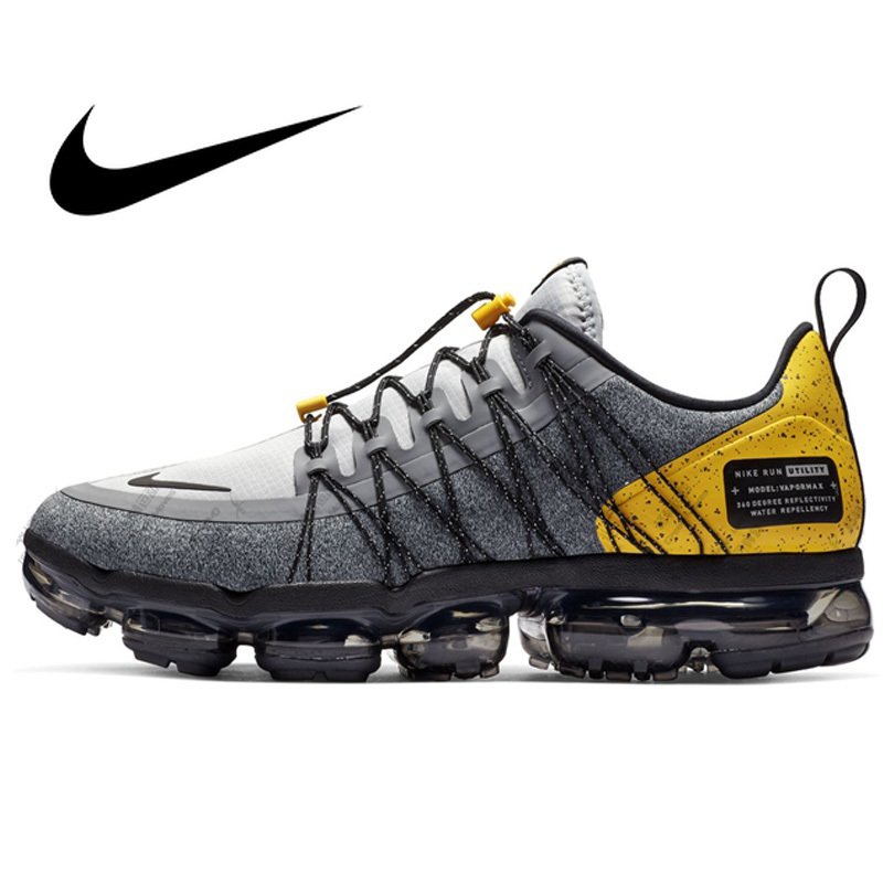 Original Authentic Nike Air Vapormax Run Utility Men's Running Shoes Fashion Classic Outdoor Sports Shoes Breathable AQ8810-010