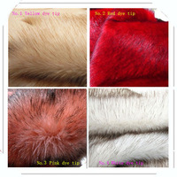 High Grade Dye Tip Faux Fox Fur Pile 3 5cm Plush Fabrics Fur Collar Cloth 10