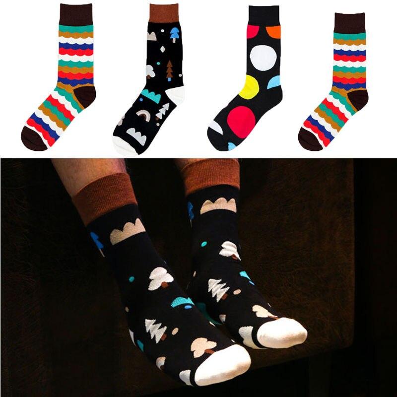 69dc5a299 Europe style Mens Socks Cotton Happy Socks Warm Snow Socks Men s ankle  length Socks winter Mens Accessories
