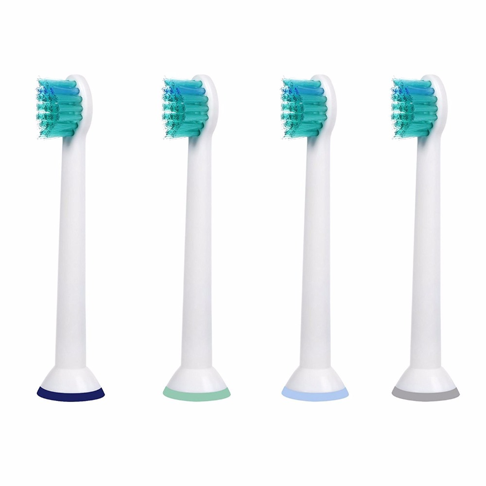 4PCS Sonic Replacement Toothbrush Heads for Philips Sonicare ProResults HX6024 fits DiamondClean Flexcare Series HealthyWhithe
